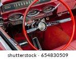 old car show in bangkok... | Shutterstock . vector #654830509