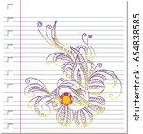 sketch ornament  flower