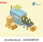 automated factory assembly line ... | Shutterstock .eps vector #654838939