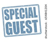 special guest sign or stamp on... | Shutterstock .eps vector #654841204