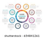 circle diagram infographic... | Shutterstock .eps vector #654841261