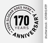 170 years anniversary logo...   Shutterstock .eps vector #654841459