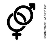 sex sign simple vector icon.... | Shutterstock .eps vector #654844159