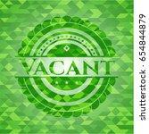 vacant realistic green emblem.... | Shutterstock .eps vector #654844879