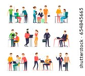 business characters. co working ... | Shutterstock .eps vector #654845665