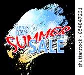 summer sale background ... | Shutterstock . vector #654847231
