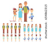 vector family   dad mom  son... | Shutterstock .eps vector #654862315