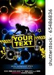 alternative discoteque music... | Shutterstock .eps vector #65486836