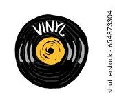 vinyl vintage record icon... | Shutterstock .eps vector #654873304