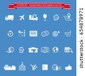 transport icon set | Shutterstock .eps vector #654878971