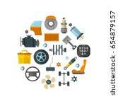 auto spare parts  car repair... | Shutterstock . vector #654879157