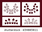 set of stencils. floral vector... | Shutterstock .eps vector #654885811