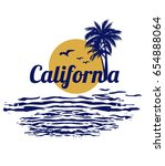 california surf typography for... | Shutterstock .eps vector #654888064