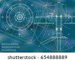 mechanical engineering drawings.... | Shutterstock .eps vector #654888889