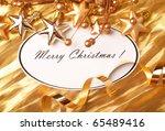 christmas frame for greeting... | Shutterstock . vector #65489416