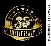35 years anniversary design... | Shutterstock .eps vector #654895195