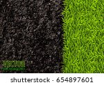 image of soil and green grass... | Shutterstock .eps vector #654897601