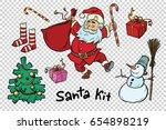 kit santa set christmas new...   Shutterstock .eps vector #654898219