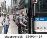 new york city  circa 2017 ... | Shutterstock . vector #654904459