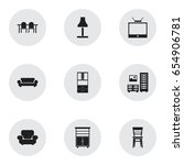 set of 9 editable home icons....