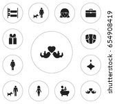 set of 12 editable folks icons. ...