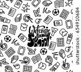 welcome back to school banner....   Shutterstock .eps vector #654910684