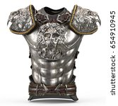 medieval armor on the body in... | Shutterstock . vector #654910945