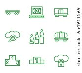 platform icons set. set of 9... | Shutterstock .eps vector #654911569