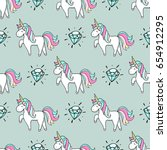 seamless pattern with hand... | Shutterstock .eps vector #654912295