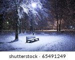 View Of Bench Against Christma...