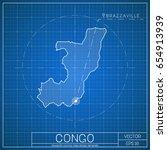 congo blueprint map template... | Shutterstock .eps vector #654913939