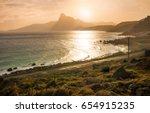romantic atmosphere in peaceful ... | Shutterstock . vector #654915235