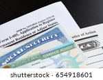 u.s.a. green card and social... | Shutterstock . vector #654918601