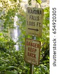 Small photo of Kahuna Falls. Hawaiian Water fall.