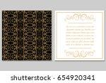 elegant golden black invitation ... | Shutterstock .eps vector #654920341