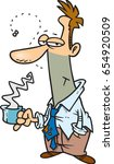 cartoon disheveled looking... | Shutterstock .eps vector #654920509