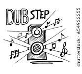 dub step music style vector... | Shutterstock .eps vector #654922255