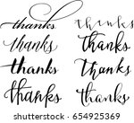 set of custom thanks  hand... | Shutterstock .eps vector #654925369