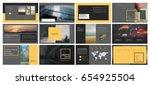 original presentation templates ... | Shutterstock .eps vector #654925504