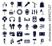 studio icons set. set of 36... | Shutterstock .eps vector #654927127