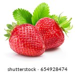 strawberries isolated on a... | Shutterstock . vector #654928474