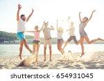 happiness  summer  joy ... | Shutterstock . vector #654931045