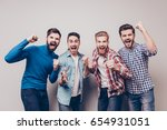yes  winners  four cheerful... | Shutterstock . vector #654931051