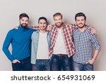 diversity of men. four cheerful ... | Shutterstock . vector #654931069