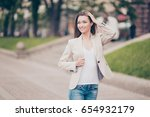 young attractive model is... | Shutterstock . vector #654932179