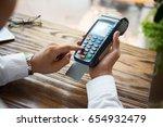 unrecognizable businessman... | Shutterstock . vector #654932479