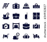 baggage icons set. set of 16... | Shutterstock .eps vector #654932827