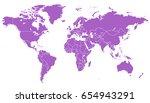 world map vector. | Shutterstock .eps vector #654943291