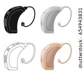 hearing aid.old age single icon ... | Shutterstock .eps vector #654943831