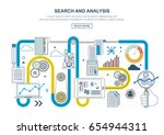 flat line design concept for... | Shutterstock .eps vector #654944311